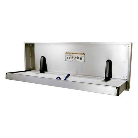Foundations Special Needs Full Stainless Steel Recessed Extended Changing Station | 100SSE-R