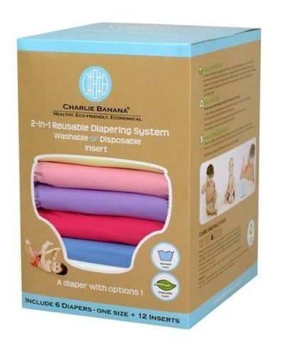 Charlie Banana® 2-in-1 Reusable Diapers (Princess)