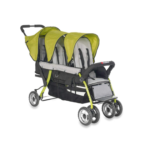 Foundations Trio Sport™ Triple Tandem Stroller, Lime - Baby Strollers Place