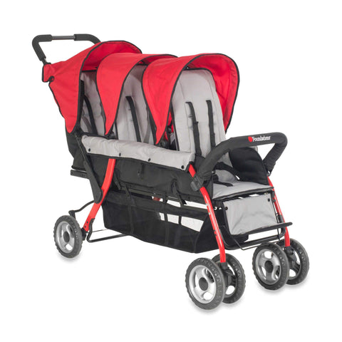Foundations Trio Sport™ Triple Tandem Stroller, Red | 4130079