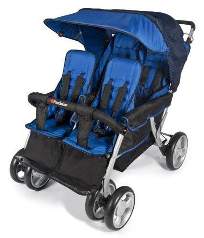 Foundations Quad LX4™ 4-Passenger Stroller, Regatta Blue - Baby Strollers Place