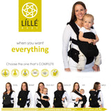 LÍLLÉbaby Complete Airflow Baby Carrier, Black - Baby Strollers Place