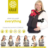 Líllébaby COMPLETE All Seasons Baby Carrier with Pockets (Charcoal & Berry) | SC-3S-104B