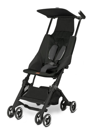 GB Pockit Stroller, Monument Black - Baby Strollers Place