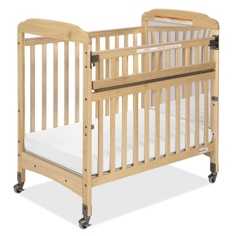 Foundations Serenity Safereach Compact Crib, Mirror End, Natural Color - Baby Strollers Place