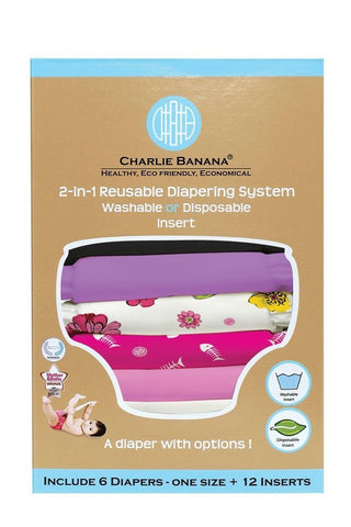 Charlie Banana® 2-in-1 Reusable Diapers (Sassy Pack)