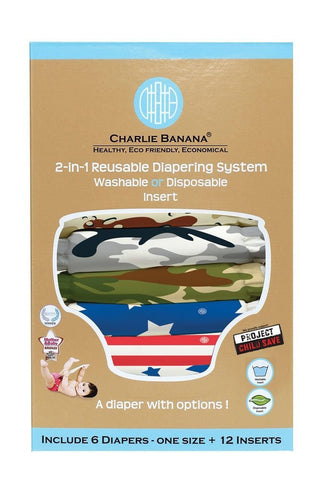 Charlie Banana® 2-in-1 Reusable Diapers (Project Child Save / All American)