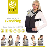 Líllébaby COMPLETE All Seasons Baby Carrier, Charcoal and Silver - Baby Strollers Place