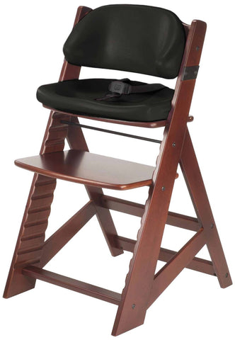 Keekaroo Height Right™ Mahogany Kids Chair with Comfort Cushion Set (Black Color)