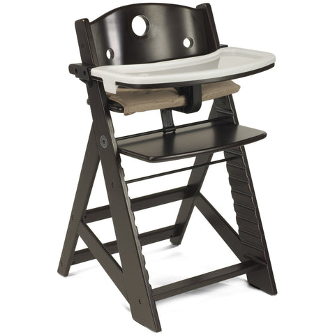 Keekaroo Height Right High Chair with Tray, Espresso - Baby Strollers Place