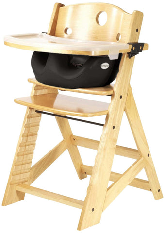 Keekaroo Height Right™ High Chair Natural Color with Infant Insert & Tray (Black Color) - Baby Strollers Place