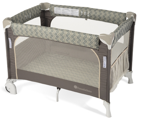 Foundations SleepFresh Elite Portable Playard, Sahara | 1556287