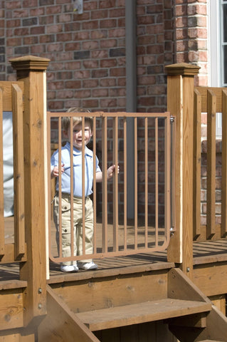 Cardinal Gates Stairway Special Outdoor Gate (Model SS-30OD) (Brown Color) - Baby Strollers Place