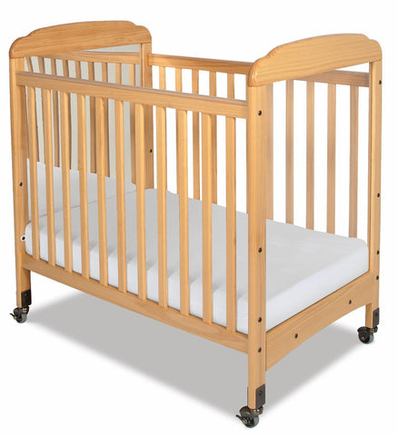 Foundations Serenity Compact Sized Mirror End Crib, Natural - Baby Strollers Place