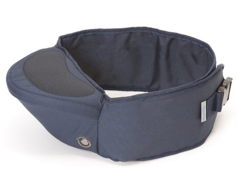 Hippychick Non-slippery Hip Seat, Navy - Baby Strollers Place