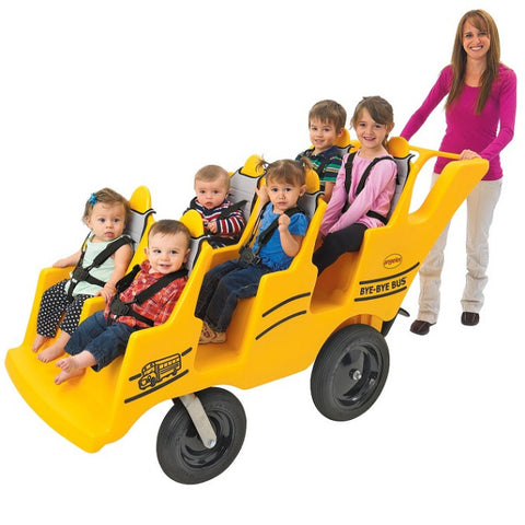 Angeles Bye Bye Bus 6-Passenger Stroller with Tires