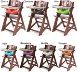 Keekaroo Height Right™ Mahogany High Chair with Infant Insert, Tray and Tray Cover (Vanilla Color)