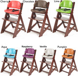 Keekaroo Height Right™ Mahogany Kids Chair with Comfort Cushion Set (Vanilla Color)