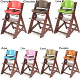 Keekaroo Height Right™ Mahogany Kids Chair with Comfort Cushion Set (Chocolate Color) - Baby Strollers Place