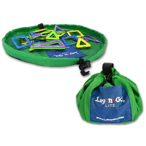 Lay-n-Go® Lite 18-inch Activity Mat & Toy Organizer (Green Color)
