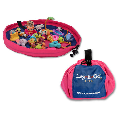 Lay-n-Go® Lite 18-inch Activity Mat & Toy Organizer (Pink Color) - Baby Strollers Place