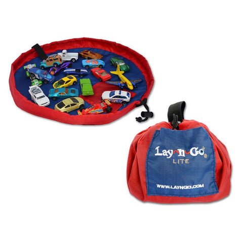 Lay-n-Go® Lite 18-inch Activity Mat & Toy Organizer (Red Color)