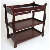Badger Basket Sleigh Style Changing Table, Cherry - Baby Strollers Place