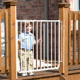 Cardinal Gates Stairway Special Outdoor Gate (Model SS-30OD) (White Color) - Baby Strollers Place