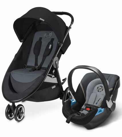 Cybex Agis M-Air3/Aton 2 Travel System, Moon Dust - Baby Strollers Place