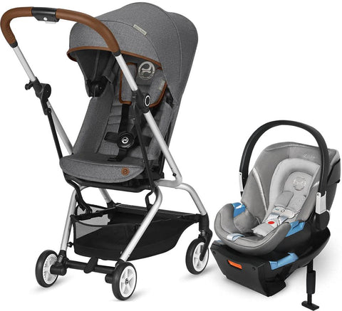 Cybex Eezy S Twist Stroller and Aton 2 with SensorSafe Travel System - Manhattan Grey - Baby Strollers Place