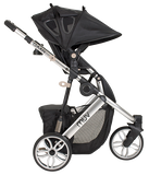 Muv GAAN 3-Wheel Stroller in Arctic Silver/Black (Bassinet Included)