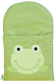 zCush Cotton Googly Green Character Infant Nap Mat