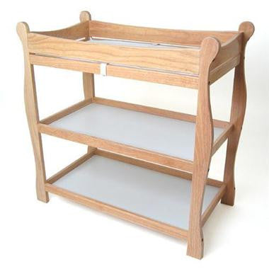 Badger Basket Sleigh Style Changing Table, Natural - Baby Strollers Place
