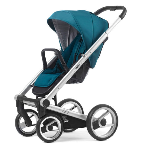 Mutsy Igo Lite Stroller with Silver Chassis (Aqua) - Baby Strollers Place