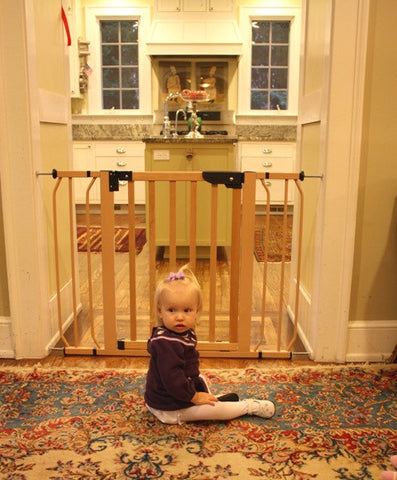 Cardinal Gates AutoLock Pressure Gate (Wood) (Model PG-35) - Baby Strollers Place