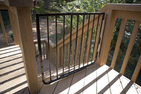 Cardinal Gates Stairway Special Outdoor Gate (Model SS 30OD) (White Color)