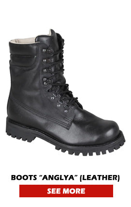 Leather Combat Boots Black