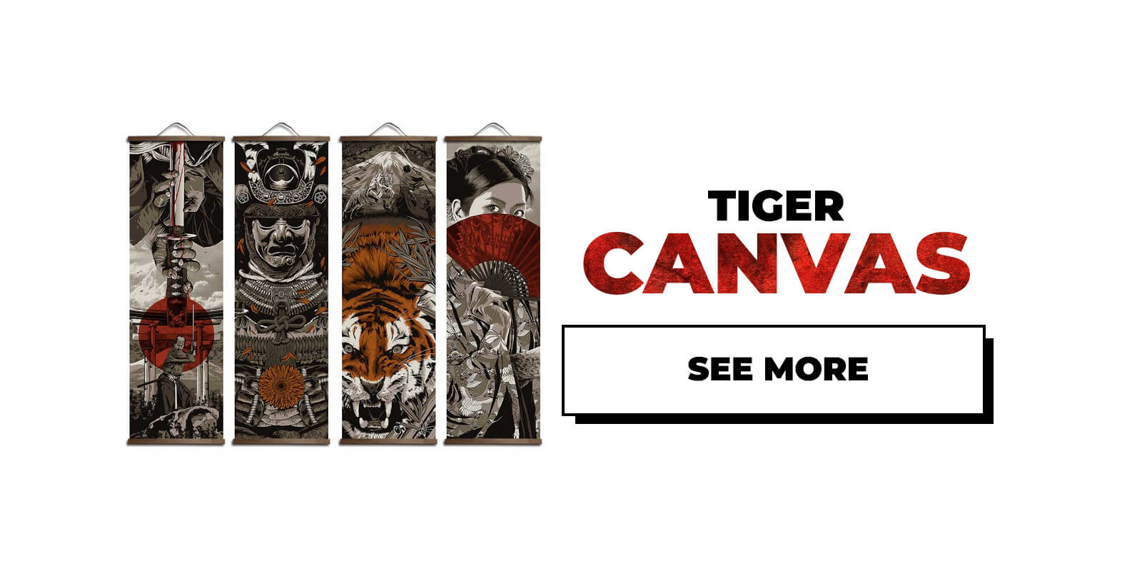 Japanese Tiger Canvas