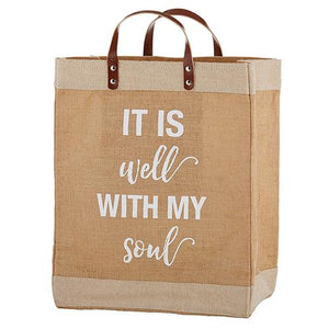 It Is Well Market Tote