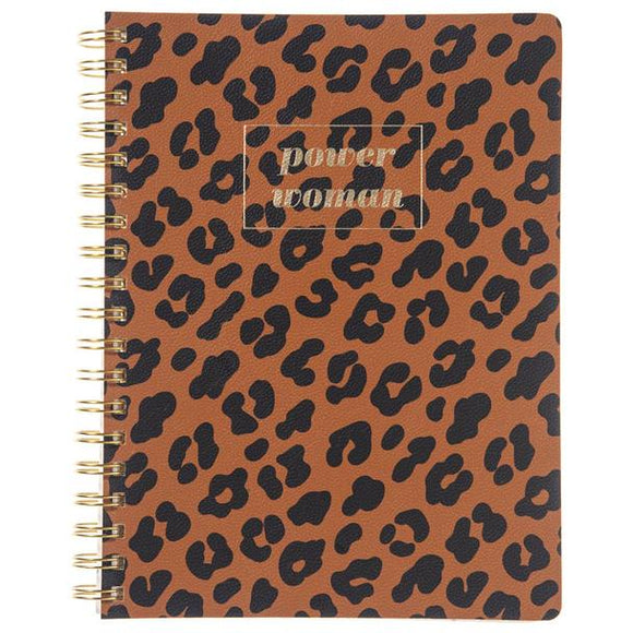 Power Woman Spiral Leather Journal