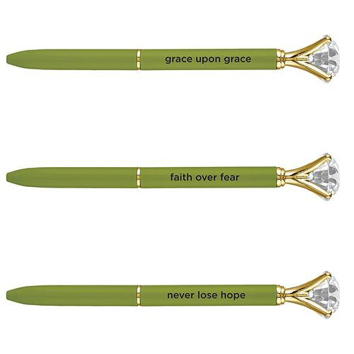 Large Gem Pen -  Chartreuse