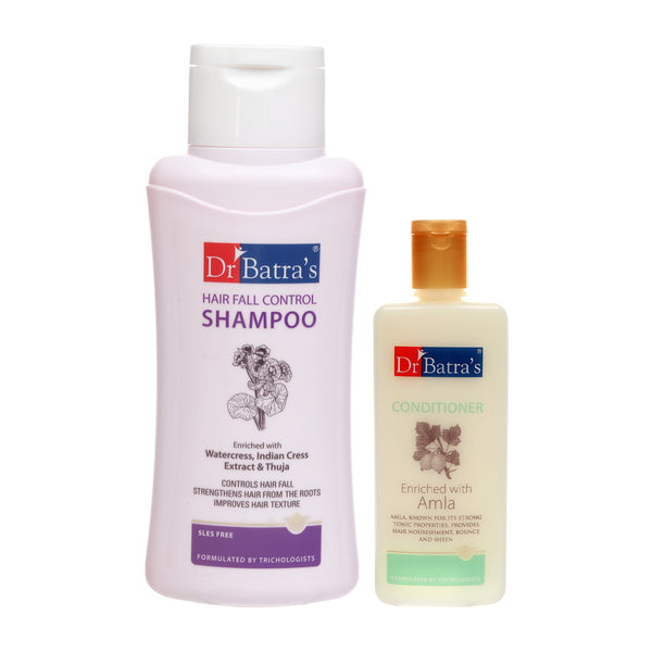 Dr Batra's Hair Fall Control Shampoo 500ml and Conditioner 200ml (Pack of 2 Men and Women)