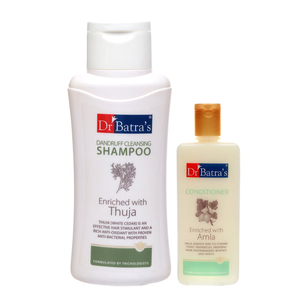 Dr Batra's Dandruff cleansing Shampoo 500 ml and Conditioner 200 ml (Pack of 2 Men and Women)