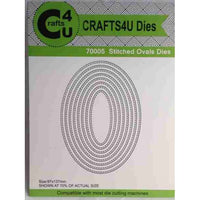 Crafts4U Dies - Stitched Ovals