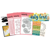 Uniquely Creative - Arty Love Stamp and Colour Mini Kit