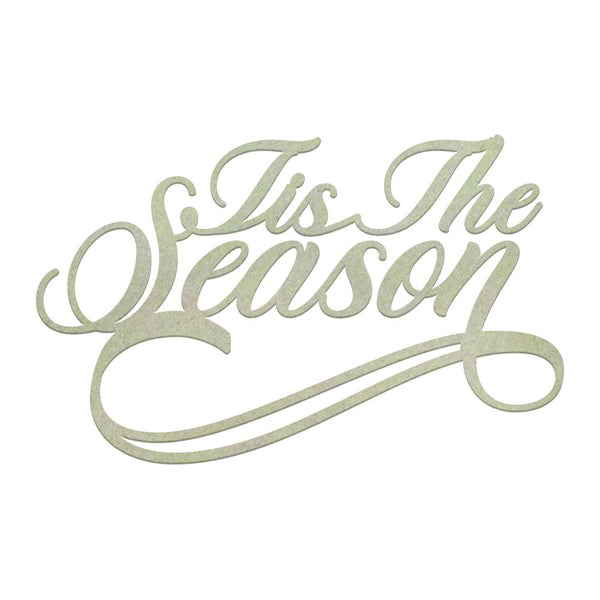 Couture Creations Chipboard - Tis The Season Sentiment