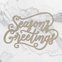 Couture Creations Chipboard - Season Greetings Sentiment
