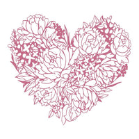 My Peaceful Peonies - Floral Heart