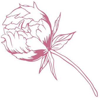 My Peaceful Peonies - Baby Peony Stamp