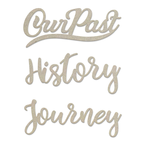 Couture Creations Chipboard - History Sentiment